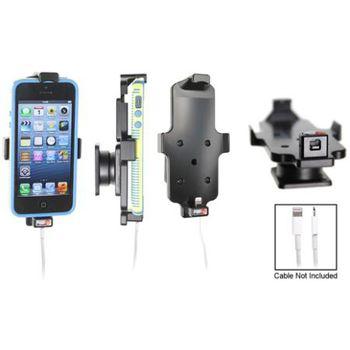 Brodit držák do auta pro iPhone 5/5S v pouzdru s průchozím konektorem + zadní kryt Spigen černý