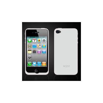 Pouzdro Xqisit Silicon pro iPhone 4 bílé + fólie