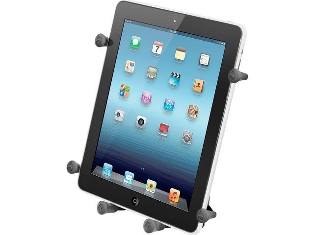 """obsah balení RAM Mounts Univerzální držák na tablet 9"""" až 10,1"""" do auta nebo letadla s 2x extra silnou přísavkou na sklo, X-Grip, sestava RAM-B-189B-UN9U"""