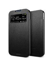 Spigen kožené pouzdro Crumena View pro Galaxy S4, černá