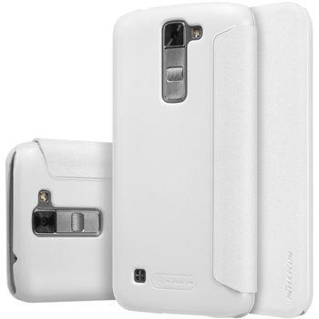 Nillkin flipové pouzdro Sparkle Folio pro LG K7, bílé