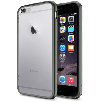 Spigen tenký kryt Ultra Hybrid pro Apple iPhone 6, šedá