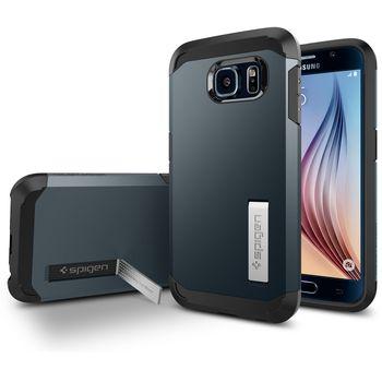Spigen pouzdro Tough Armor pro Samsung Galaxy S6, kovově modrá