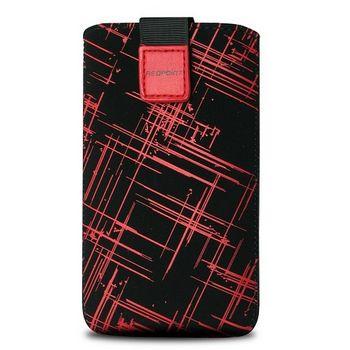 Fixed pouzdro Velvet s motivem Red Stripes, velikost 3XL, červená