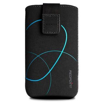 Fixed pouzdro Velvet s motivem Stripe Blue, velikost XXL, černá