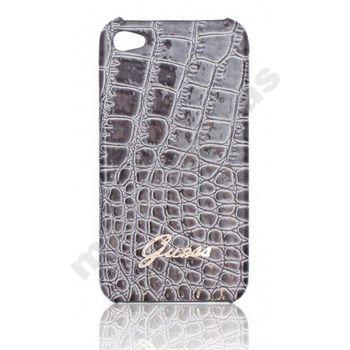 Guess Crocodile zadní kryt pro iPhone 4/4S, šedý