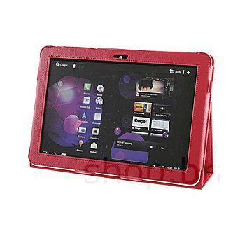 Pouzdro koženkové Brando se stojánkem - Samsung Galaxy Tab 10.1/Tab 2 10.1 (červená)