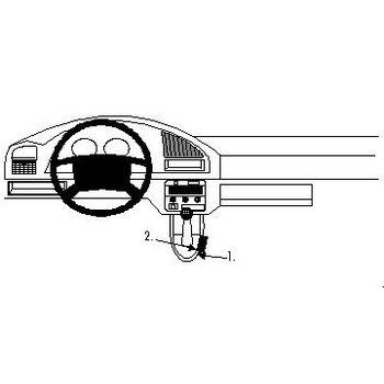 Brodit ProClip montážní konzole pro Citroen Berlingo 97-02/Peugeot Partner 97-02, na středový tunel