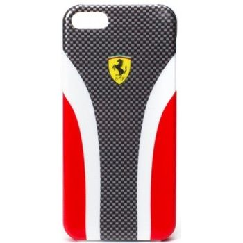 Ferrari Scuderia Carbon zadní kryt iPhone 5, červený