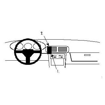 Brodit ProClip montážní konzole pro Mazda MX 90-94, na střed