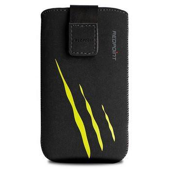 Redpoint pouzdro Velvet s motivem Yellow Scratch, velikost XL, černá