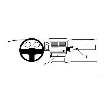 Brodit ProClip montážní konzole pro Ford Sierra 92-04, na střed