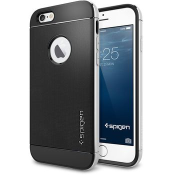 Spigen pouzdro Neo Hybrid Metal pro iPhone 6, stříbrná