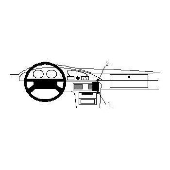 Brodit ProClip montážní konzole pro Mazda Xedos 9 94-03, na střed