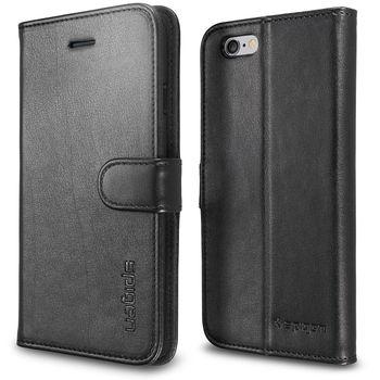 Spigen flipové pouzdro Wallet S pro iPhone 6, černá