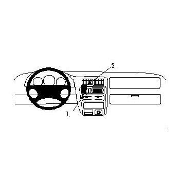 Brodit ProClip montážní konzole pro Mazda 323 F (BA) 97-97, na střed