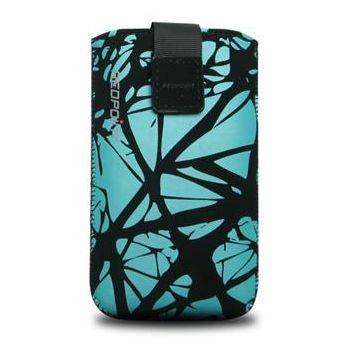 Redpoint pouzdro Velvet s motivem Blue Cracks, velikost S, modrá