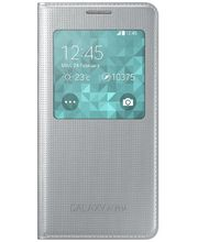 Samsung flipové pouzdro S-view EF-CG850BS pro Galaxy Alpha, stříbrná