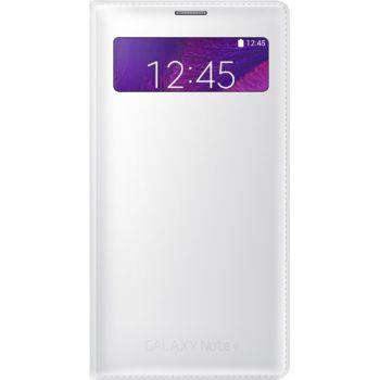 Samsung flipové pouzdro S-View s kapsou EF-EN910FT pro Galaxy Note 4 (N910), bílé