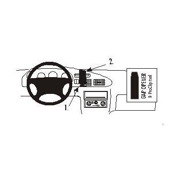 Brodit ProClip montážní konzole pro ProClip Ford Ranger 99-07, na střed