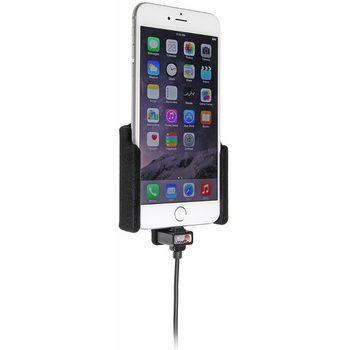 Brodit držák do auta na Apple iPhone 6 Plus bez pouzdra, s nabíjením z cig. zapalovače/USB, samet