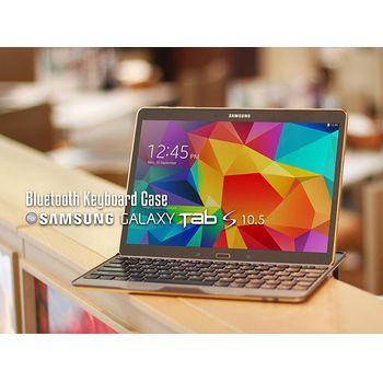 Brando pouzdro s Bluetooth klávesnicí a stojánkem pro Samsung Galaxy Tab S 10.5, zlaté
