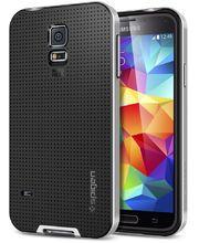 Spigen pevné pouzdro Neo Hybrid Satin silver pro Samsung Galaxy S5, stříbrná