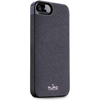 PURO pouzdro Eco-Leather Cover pro Apple iPhone 5 - černá