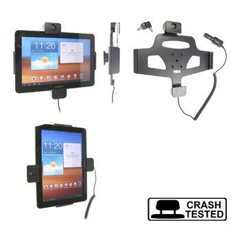 Brodit držák do auta na Samsung Galaxy Tab 10.1, P7500, se zámkem  s nabíjením z cig. zapalovače