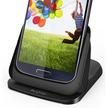 Kidigi UltraThin dobíjecí a synchronizační kolébka pro Samsung Galaxy S4, černá