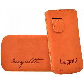 Bugatti Perfect Velvety leather case pro iPhone 4/4S - oranžové