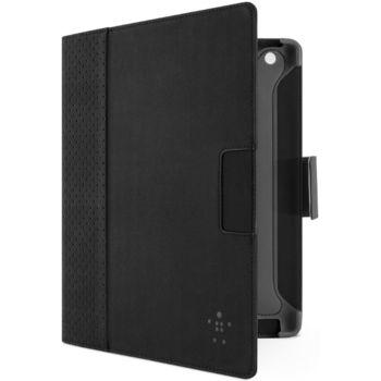 Belkin iPad 3 pouzdro Cinema Dot Folio, PU kůže, černé/šedé (F8N773cwC00)