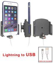 Brodit držák do auta na Apple iPhone 6/6S Plus v pouzdru, nastavitelný, s průchodkou pro Light.kabel