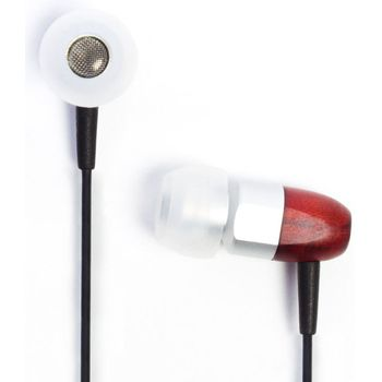 Sluchátka Thinksound ts02 s mikrofonem silver/cherry