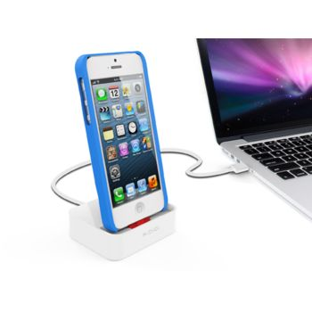 Kidigi dobíjecí a synchronizační kolébka pro Apple iPhone 5/5S/5C/SE a iPhone 6, bílá