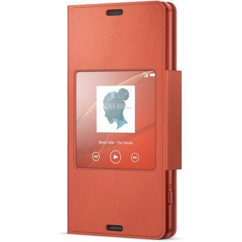 Sony flipové pouzdro Style Cover SCR26 pro Xperia Z3 Compact, oranžová